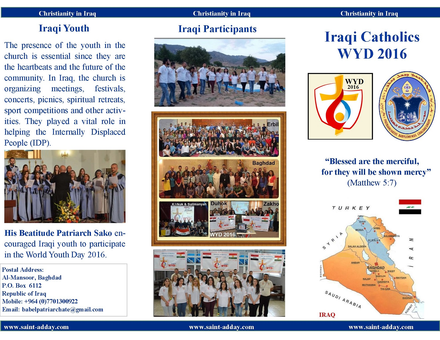 World Youth Day Chaldean Brochure